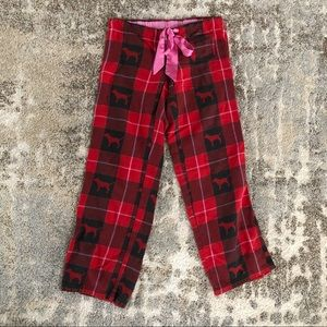 Victoria's Secret PINK red plaid pajama bottoms